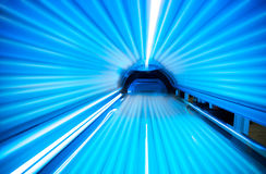 Solarium. Empty tanning bed solarium, inside Royalty Free Stock Photography