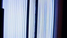 Solarium op het kuuroordcentrum stock footage
