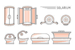 Solarium piano del bagno di Sun di progettazione di vettore Fotografie Stock