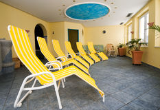 Solarium room in ski resort in Austrian Alps Royalty Free Stock Photo