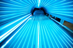 Solarium tanning bed. View from inside Royalty Free Stock Image