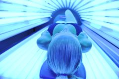 Solarium treatment Stock Photo