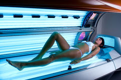 Solarium treatment spa Stock Photos