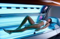 Solarium treatment spa Stock Photos