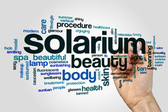 Solarium word cloud. Concept on grey background Royalty Free Stock Photography