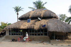 Solarleuchte bei Sundarban-Indien. Lizenzfreie Stockfotos