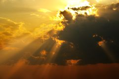 Solarlichtstrahlen Lizenzfreies Stockfoto
