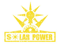 Solarmacht-stempel Lizenzfreies Stockfoto