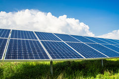 Solarpanels on field Stock Photography