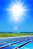 Solarpanels under sun Stock Images