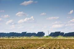 Solarpark Lizenzfreie Stockfotos