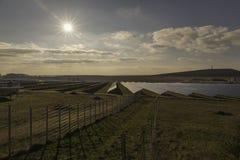 solarpark Στοκ φωτογραφία με δικαίωμα ελεύθερης χρήσης