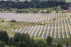 solarpark Στοκ εικόνες με δικαίωμα ελεύθερης χρήσης