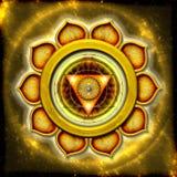 Solarplexuset Chakra Arkivbild