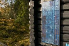 Solarpower Πρότυπο Simpel χρησιμοποιούμενο συχνά μέσα Στοκ φωτογραφία με δικαίωμα ελεύθερης χρήσης