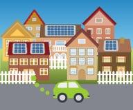 Solarstadt Lizenzfreies Stockfoto
