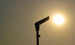 Solarstraßenlaterne Stockbild