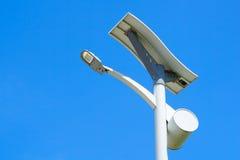 Solarstraßenlaterne Stockbilder
