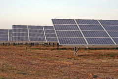 SolarStromnetz Lizenzfreie Stockfotos