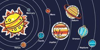 SolarSystemScheme illustration stock