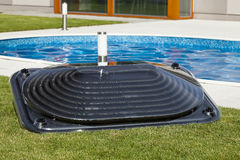 Solarwarmwasserbereitung Stockfotografie
