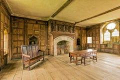 Solarwohnung, Stokesay-Schloss, Shropshire, England Lizenzfreies Stockfoto