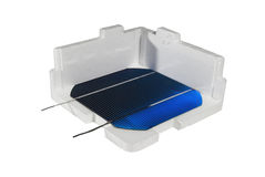 Solarzellen in einem Kasten lizenzfreie stockfotos