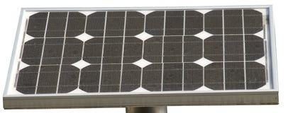 Solarzellen mit zwölf Elementen Stockfoto