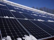 Solarzellendach Stockbild