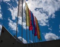 Solas banderas del colore Imágenes de archivo libres de regalías