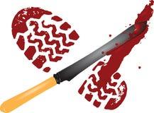 Solas do imprint do sangue ilustração stock