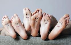 Solas humanas com caras pintadas Foto de Stock Royalty Free