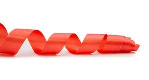 solated的红色丝带蛇纹石 库存照片
