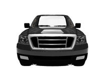 Solated black car front view Royalty Free Stock Image