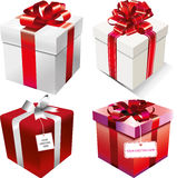 Solated gift boxes. Vector set of  gift boxes Royalty Free Stock Images