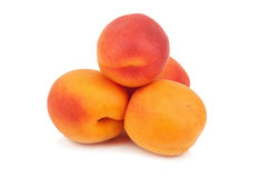 Solated juicy apricots Royalty Free Stock Photos