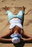 solbada för strand Arkivfoto