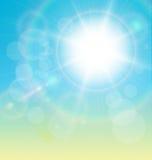 Solbakgrund. Fotografering för Bildbyråer
