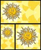 Solbakgrunder Arkivbilder