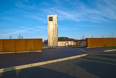 Solberg Tower. A rest stop at the European highway 6 in Skjeberg opened in 2010. This is a collaborative project between the Public Roads Administration builder Stock Image