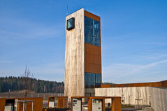 Solberg Tower. A rest stop at the European highway 6 in Skjeberg opened in 2010. This is a collaborative project between the Public Roads Administration builder Royalty Free Stock Photography