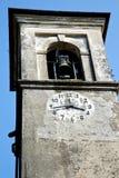 Solbiate Арно старое день колокола башни церков солнечный Стоковые Изображения RF