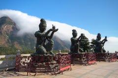 solbränna för buddha tian geant ölantau Arkivbilder
