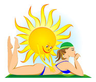 solbränna Royaltyfri Fotografi