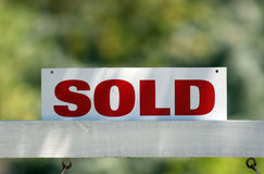 Sold. Real estate sold sign royalty free stock images