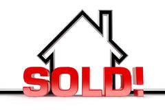 Sold. A graphic depiction of sold real estate royalty free stock photos