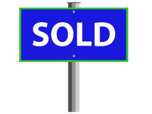 Sold. An illustration of a Sold sign Stock Photos