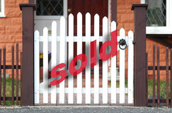 Sold. Real estate property sold sign stock image