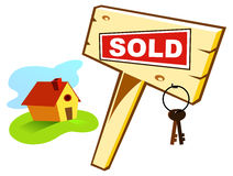 Sold. House sold. Path of images included vector illustration
