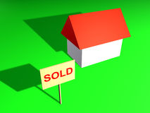 Sold. House sold illustration Stock Photo